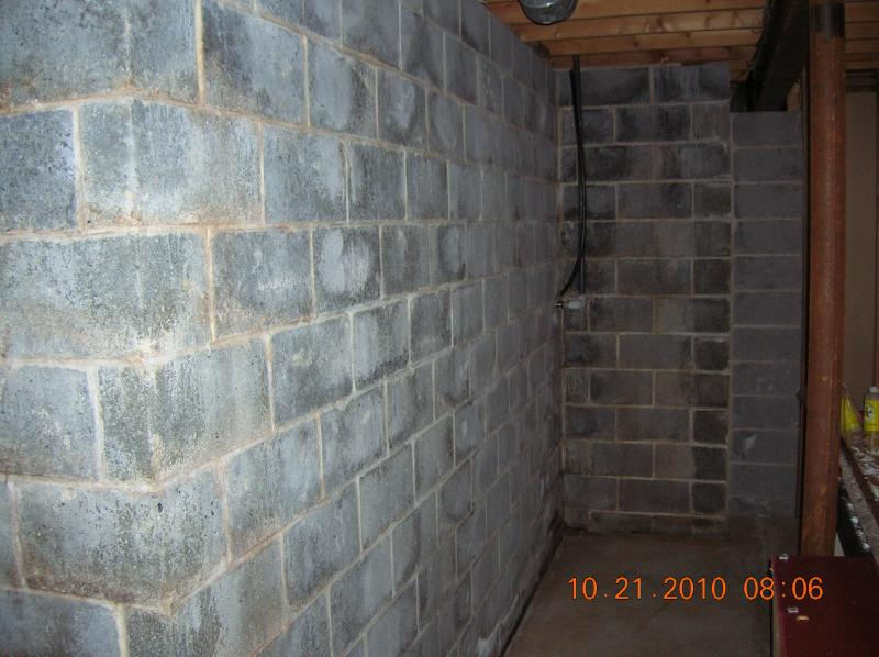 The basement walls were pressure washed with a general cleaner. The next step is to etch them with an acid wash to remove efflorescence (Salts borne from ... & Andrew Vilcheck - Basement Waterproofing