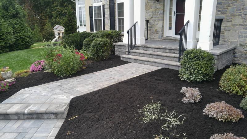 Paver Overlay on Existing Walkways and Patios