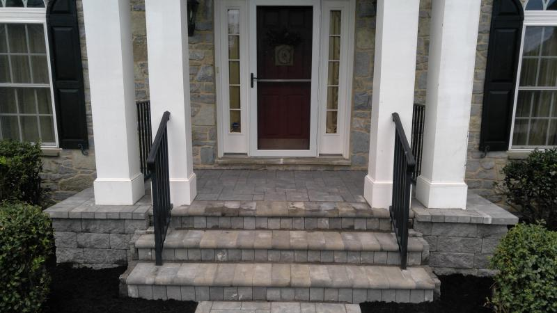 Cambridge Wall Block(onyx natural), Bulnose Paver ,Ledgestone I, AndrewVilcheck.