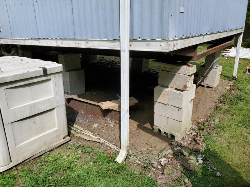 Mobile home foundation repair