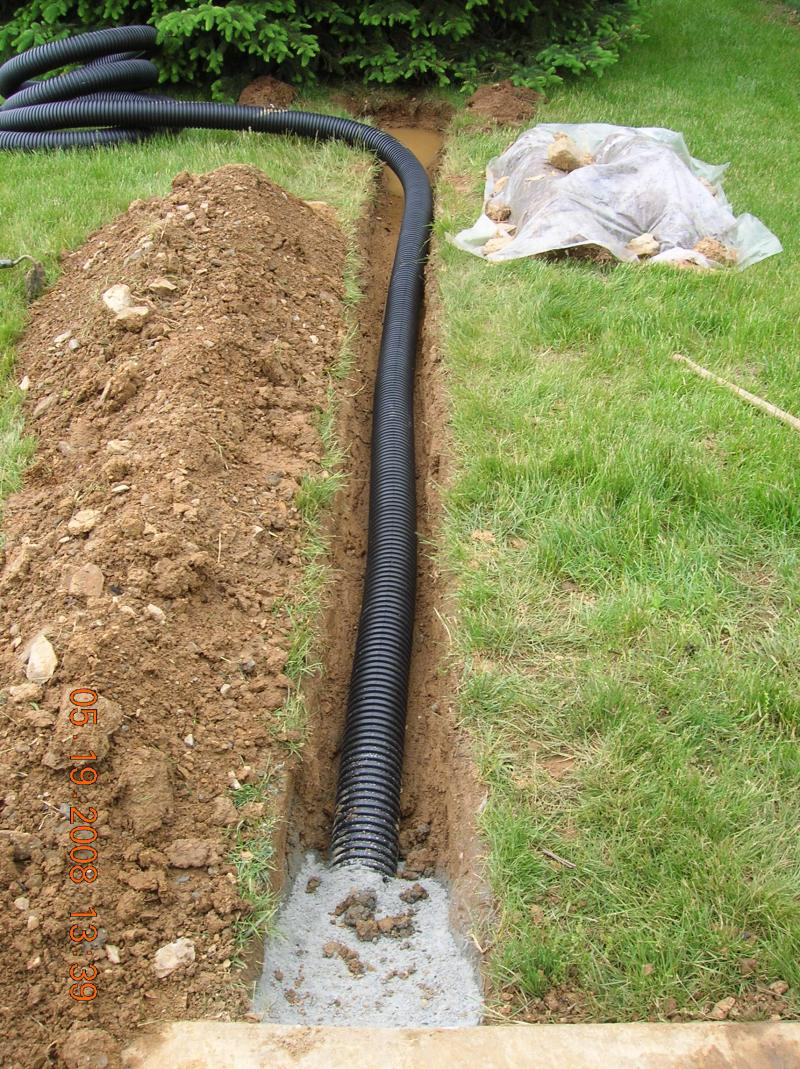 Andrew vilcheck drainage erosion control for Installing drainage pipe around house
