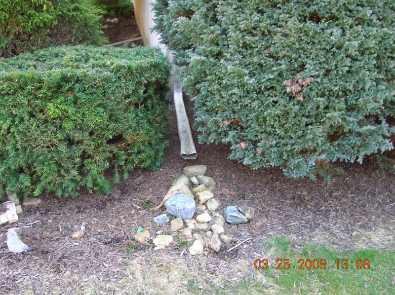 how to end a french drain